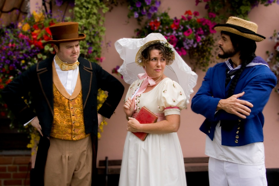 Rose Maybud, with Sir Ruthven Murgatroyd disguised as Robin Oakapple  and his fo