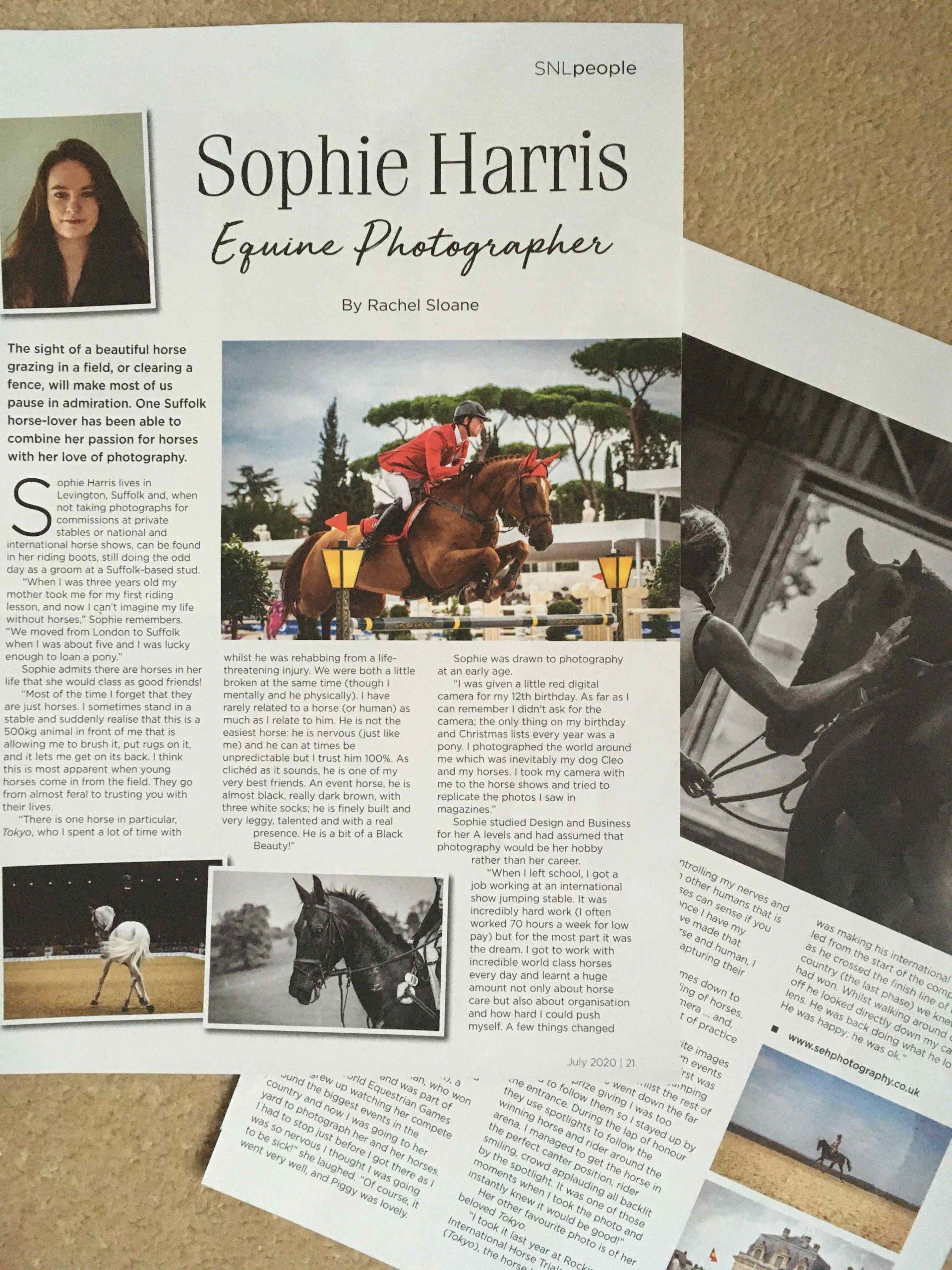 SNLEquine photgrapher, Sophie Harris